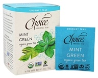 Choice Organic Teas - Gourmet Green Tea Mint Green - 16 Tea Bags