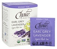 Choice Organic Teas - Gourmet Black Tea Earl Grey Lavender - 16 Tea Bags