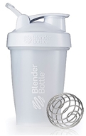 Blender Bottle - Classic Shaker Bottle with Loop Full-Color White - 20 oz. By Sundesa