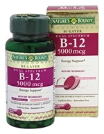 Nature's Bounty - Dual Spectrum Bi-Layer Vitamin B12 5000 mcg. - 30 Tablets