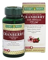 Nature's Bounty - Dual Spectrum Cranberry with Hibiscus 350 mg. - 60 Softgels