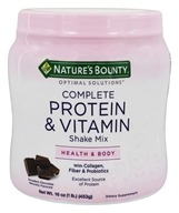Nature's Bounty - Optimal Solutions Complete Protein and Vitamin Shake Mix Chocolate - 16 oz.