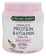 Nature's Bounty - Optimal Solutions Complete Protein and Vitamin Shake Mix Vanilla - 16 oz.