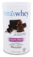 Tera's Whey - rBGH Free Whey Protein Fair Trade Certified Dark Chocolate Cocoa - 12 oz.