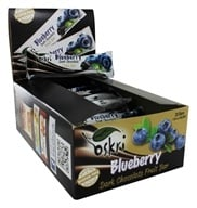 Oskri - Gluten Free Dark Chocolate Fruit Bar Blueberry - 20 Bars