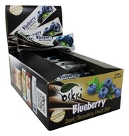 Oskri - Gluten-Free Dark Chocolate Fruit Bar Blueberry - 20 Bars