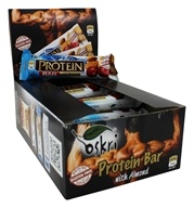 Oskri - Gluten-Free Dark Chocolate Protein Bar Almond - 20 Bars