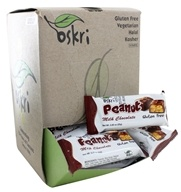Oskri - Gluten Free Mini Peanut Bar Milk Chocolate - 40 Bars