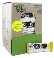 Oskri - Gluten-Free Mini Coconut Bar Lemon Dark Chocolate - 40 Bars
