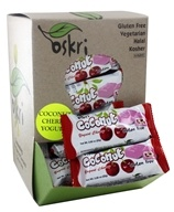 Oskri - Gluten Free Mini Coconut Bar Yogurt Cherry - 40 Bars