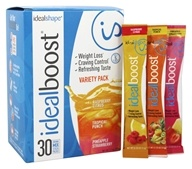 IdealShape - IdealBoost Drink Mix Stick Packs Variety Box - 30 Pack(s)