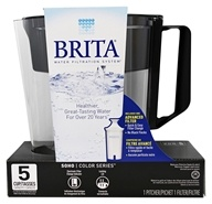 Brita - SOHO Pitcher Water Filtration System Black - 5 Cup(s)