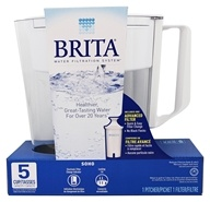 Brita - SOHO Pitcher Water Filtration System White - 5 Cup(s)