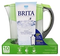 Brita - Grand Pitcher Water Filtration System Green - 10 Cup(s)