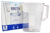 Brita - Slim Pitcher Water Filtration System White - 5 Cup(s)