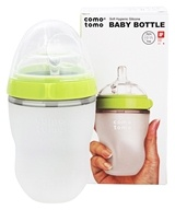 Comotomo - Soft Hygienic Silicone Baby Bottle Single Pack 3m+ Green - 8 oz.