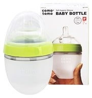 Comotomo - Soft Hygienic Silicone Baby Bottle Single Pack 0-3m Green - 5 oz.
