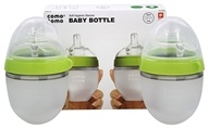 Soft Hygienic Silicone Baby Bottle Twin Pack 0-3m Green - 5 oz.