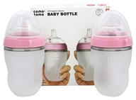 Soft Hygienic Silicone Baby Bottle Twin Pack 3m+ Pink - 8 oz.