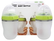Soft Hygienic Silicone Baby Bottle Twin Pack 3m+ Green - 8 oz.