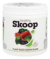 Healthy Skoop - Plant-Based Greens Blend Superfood Supplement Powder Unsweetened - 6.5 oz.