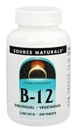 Source Naturals - B12 2000 mcg. - 200 Tablet(s)