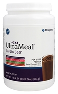 Metagenics - UltraMeal Cardio 360 Pea & Rice Protein Chocolate - 20.24 oz.