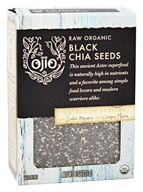 Ojio - Organic Raw Black Chia Seeds - 8 oz.