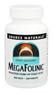 Source Naturals - MegaFolinic 800 mcg. - 240 Tablets