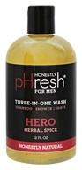 pHresh - Three in One Wash For Men Hero Herbal Spice - 12 oz.