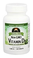 Source Naturals - Vegan True Non-GMO Vitamin D 1000 IU - 120 Tablets