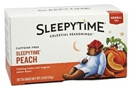 Celestial Seasonings - Sleepytime Caffeine Free Herbal Tea Peach - 20 Tea Bags