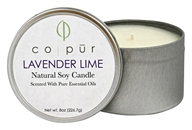 Co-Pur - Natural Soy Candle Lavender Lime - 8 oz.
