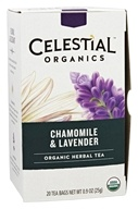 Celestial Seasonings - Organic Herbal Tea Chamomile and Lavender - 20 Tea Bags