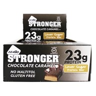 NuGo Nutrition - Stronger Protein Bars Box Real Dark Chocolate with Caramel - 12 Bars