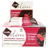 NuGo Nutrition - Slim Bars Box Raspberry Truffle - 12 Bars