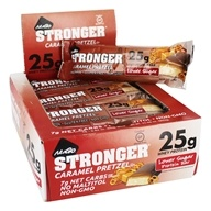 NuGo Nutrition - Stronger Protein Bars Box Caramel Pretzel - 12 Bars