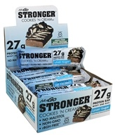 NuGo Nutrition - Stronger Protein Bars Box Cookies 'N Cream - 12 Bars