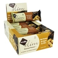 NuGo Nutrition - Slim Bars Box Roasted Peanut - 12 Bars