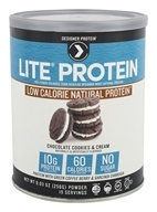 Designer Protein - Lite Natural Protein Powder Chocolate Cookies & Cream - 9.03 oz.