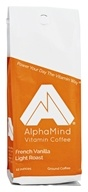 AlphaMind Vitamin Coffee - Light Roast Ground Coffee French Vanilla - 12 oz.