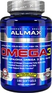 AllMax Nutrition - Omega-3 Cold-Water Fish Oil Concentrate - 180 Softgels