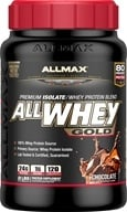 AllMax Nutrition - AllWhey Gold Premium Isolate/Whey Protein Blend Chocolate - 2 lbs.