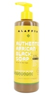 Alaffia - Authentic African Black Soap Eucalyptus Tea Tree - 16 oz.