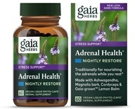 Gaia Herbs - Adrenal Health Nightly Restore - 60 Vegan Caps