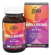 Gaia Herbs - Daily WellBeing for Women - 60 Vegan Caps