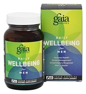 Gaia Herbs - Daily WellBeing for Men - 60 Vegan Caps