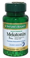 Nature's Bounty - Triple Strength Melatonin Cherry Flavored 3 mg. - 240 Quick Dissolve Tablets