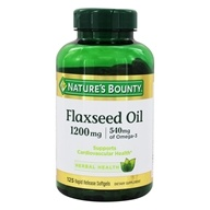 Nature's Bounty - Natural Cold Pressed Flaxseed Oil 1200 mg. - 125 Softgels