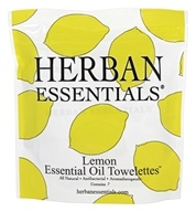 Herban Essentials - Towelettes Essential Oil Lemon - 7 Count
